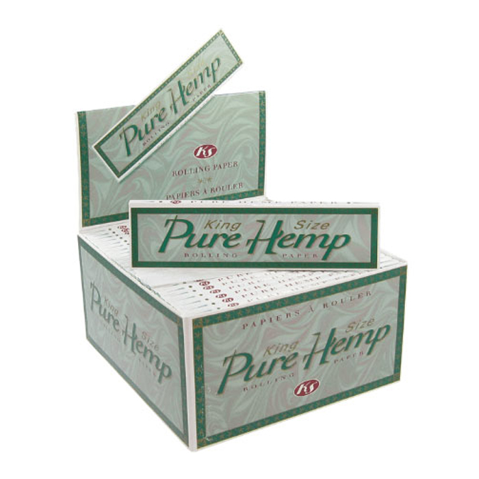 pure hemp unrefined rolling papers king