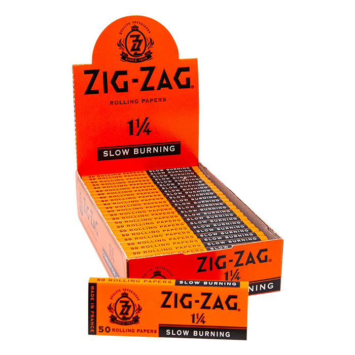 Zig Zag Slow Burning Rolling Paper 1 1/4