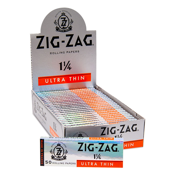 Zig Zag Ultra Thin Silver Rolling Papers