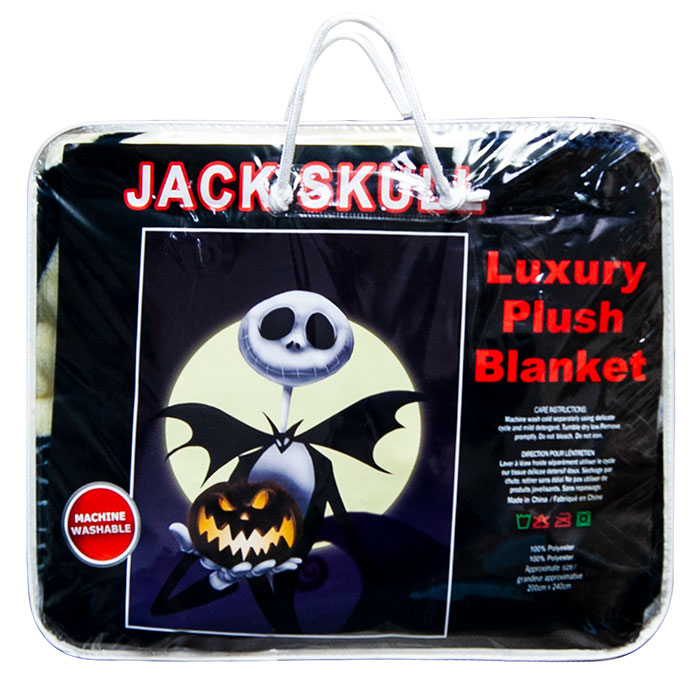 Jack Skull Queen Size Plush Blanket