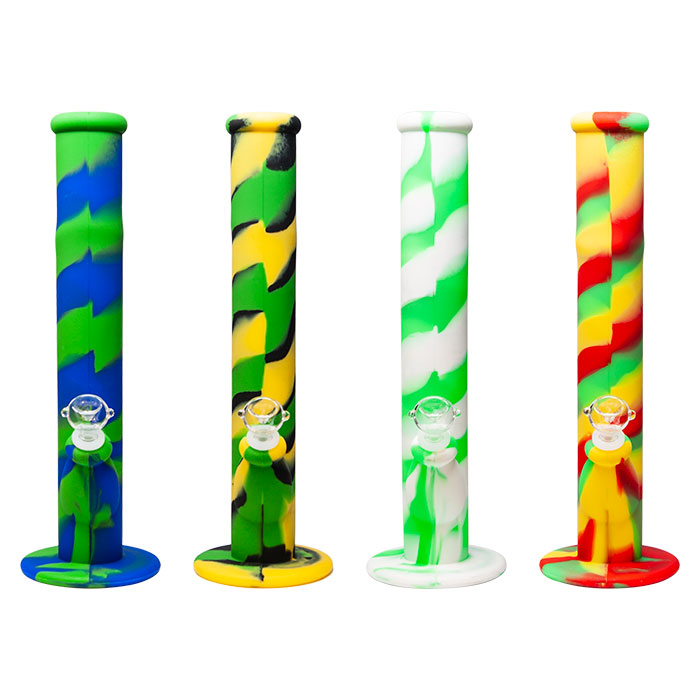 Cannatonik Silicone Mix Colored Bongs 14 Inches