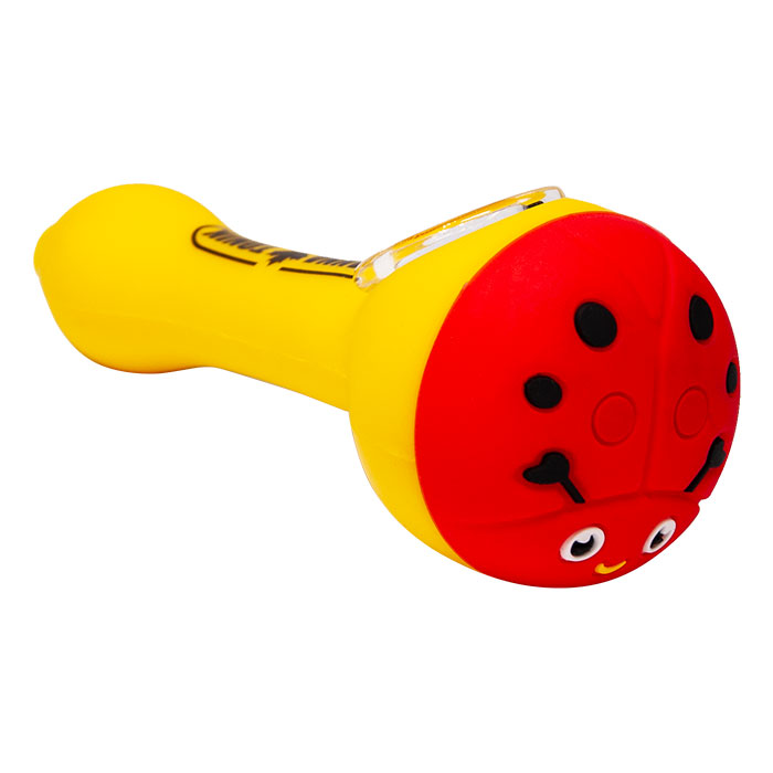 Cannatonik Ladybug Silicone Yellow Hand Pipe