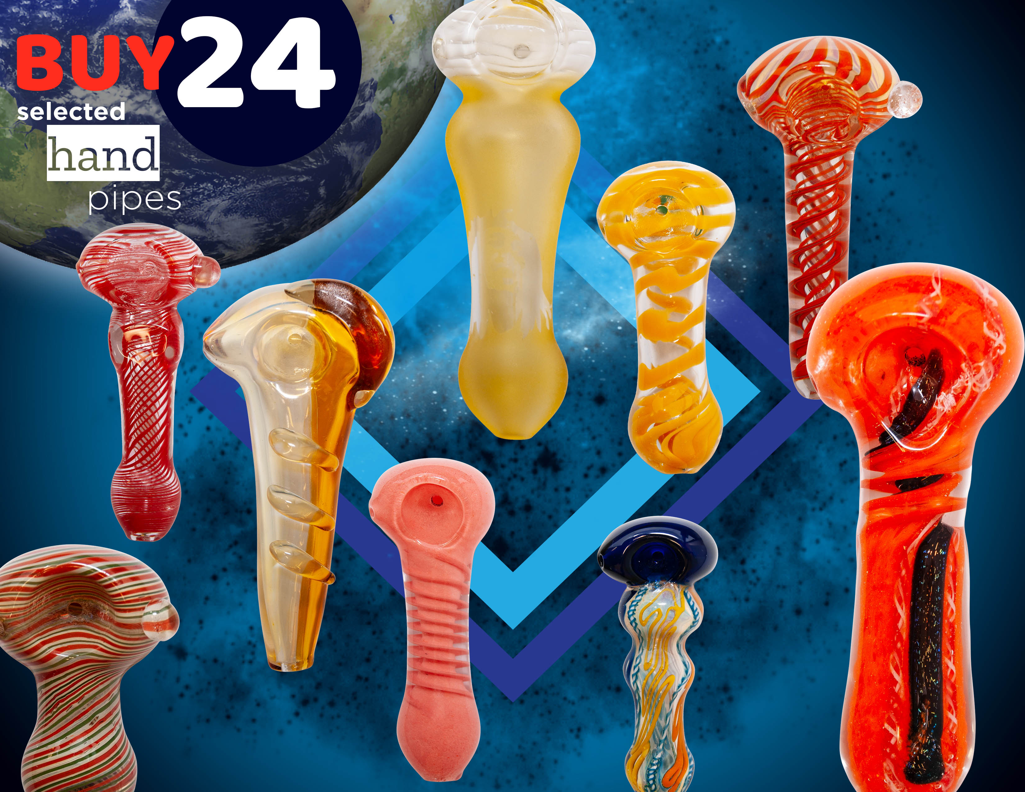 Assorted glass pipe deal 24