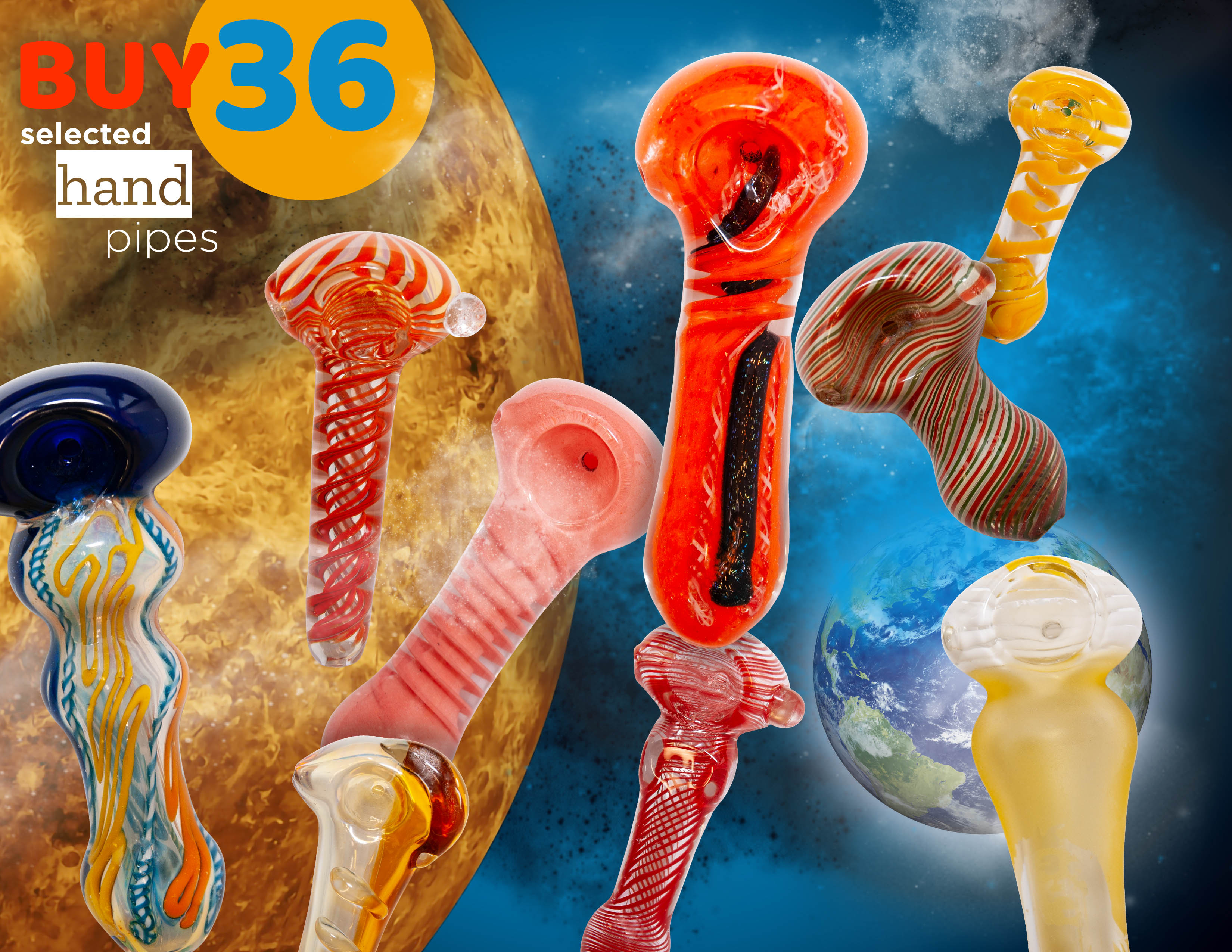 Assorted Glass Pipe Deal 36
