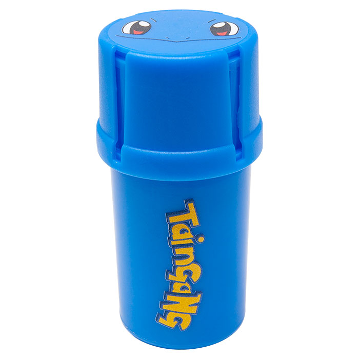 Blue Medtainer Smokeymon Smell Proof Storage And Grinder