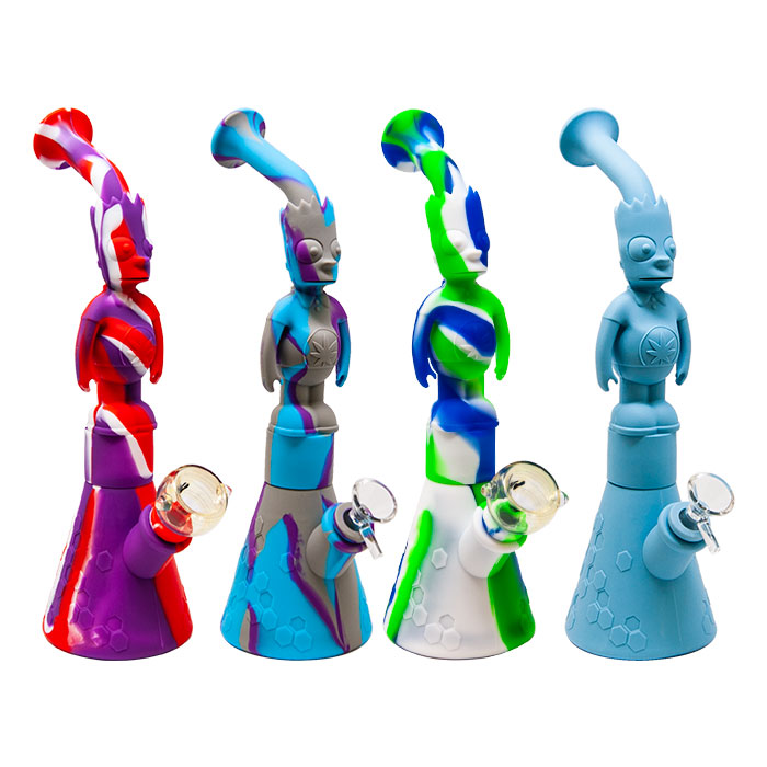 Bart Simpson Silicone Bong Assorted Colours