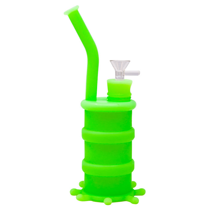 Cannatonik Silicone Octopus Fluorescent Green Bong