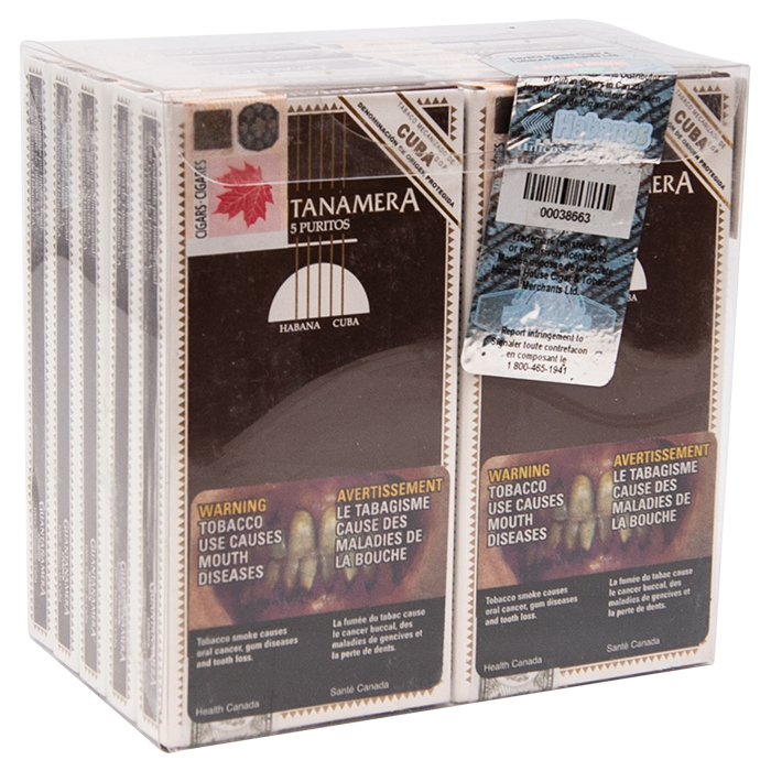 Guantanamera Puritos Pack of 5 Carton of 10