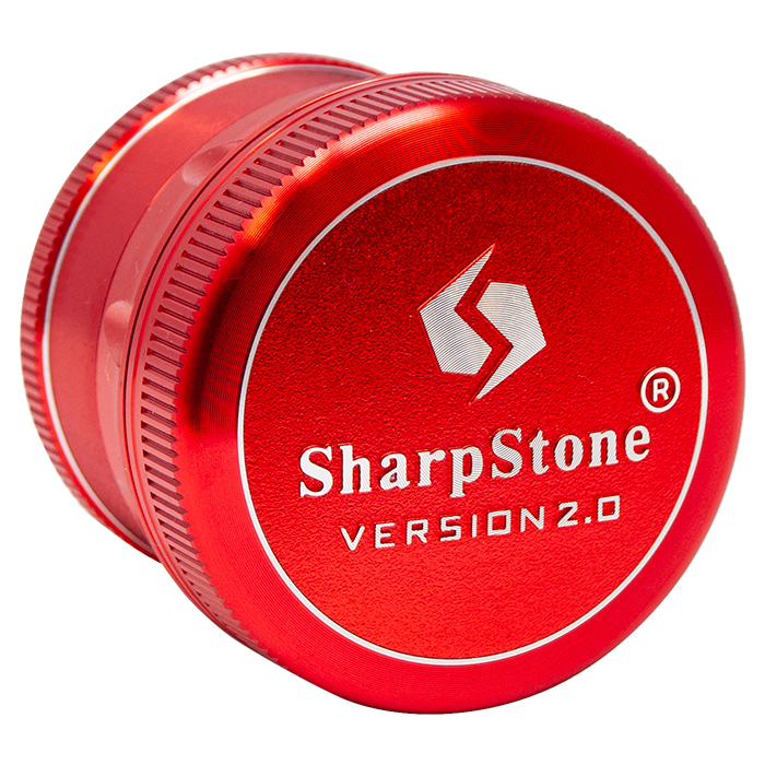 Red Sharp Stone V2 Grinder Hard Top