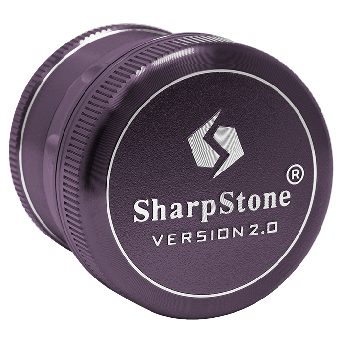 Purple Sharp Stone V2 Grinder Hard Top