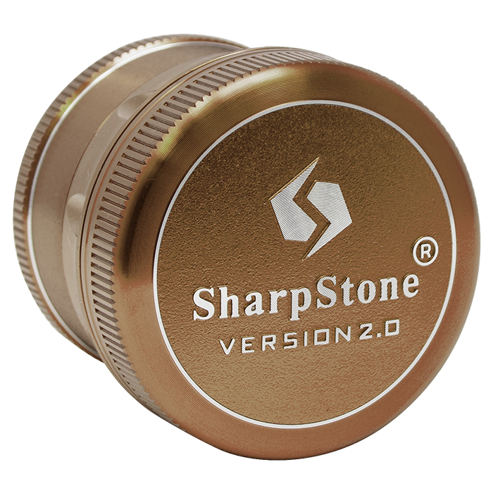 Champagne Sharp Stone V2 Grinder Hard Top