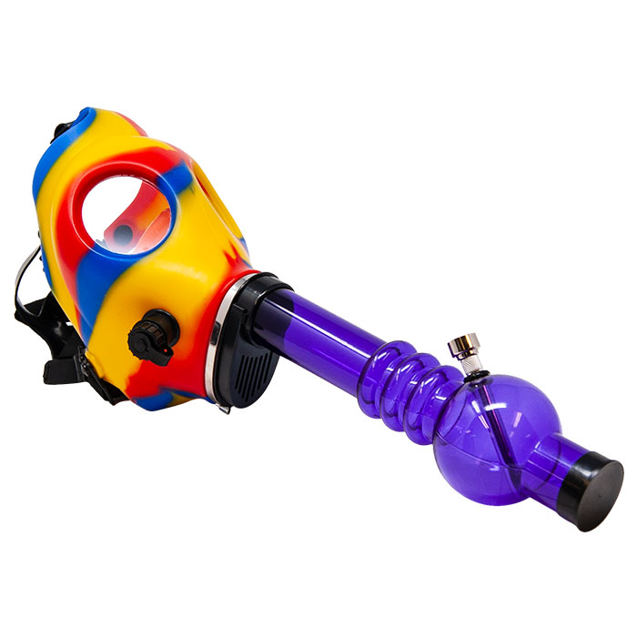 Gas Mask Rasta Bong