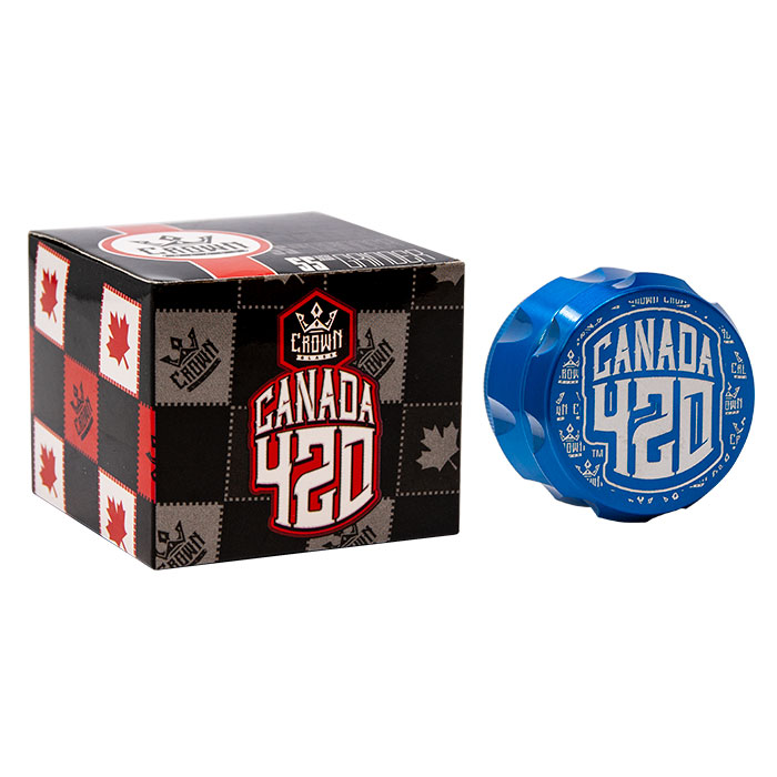 Crown Blue Canada 420 Grinder