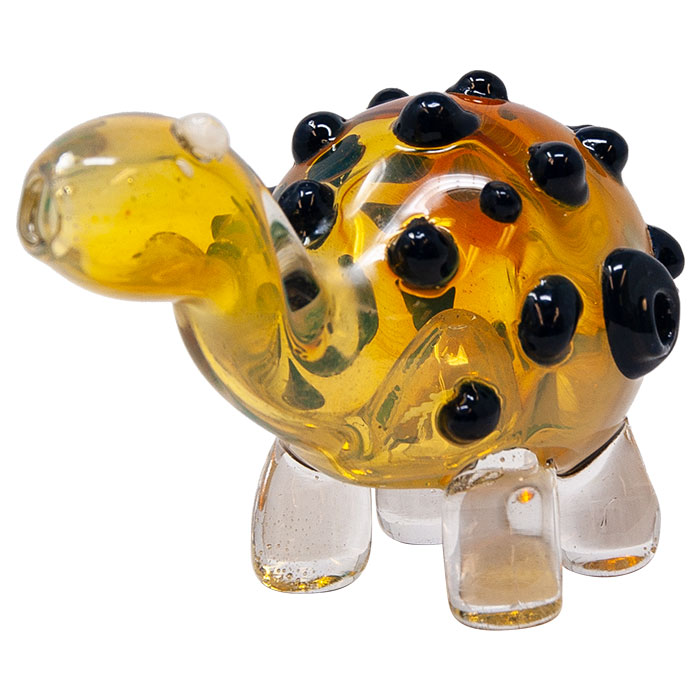 Yellow Tortoise Glass Pipe
