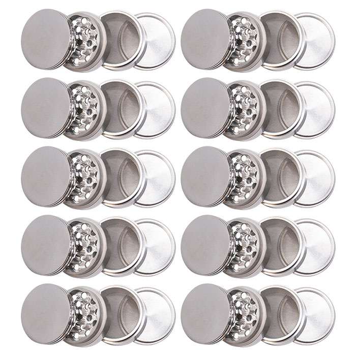 Aluminium Silver Grinder 42MM Display Of 12