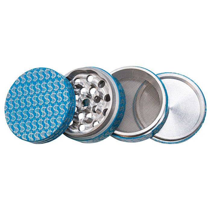 Dollar Signs Aluminium Grinder 50MM