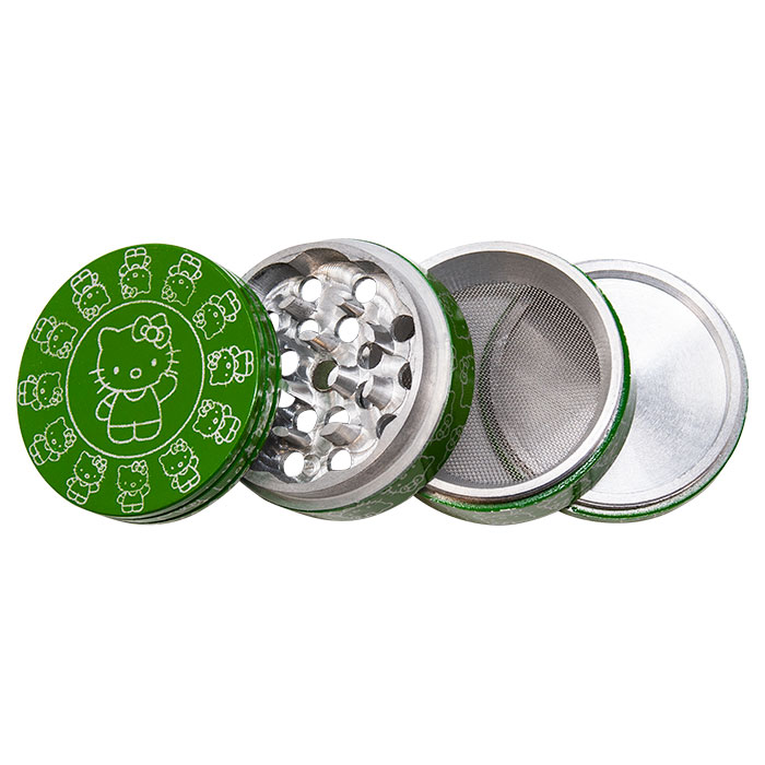 Hello Kitty Green Aluminium Grinder 42MM