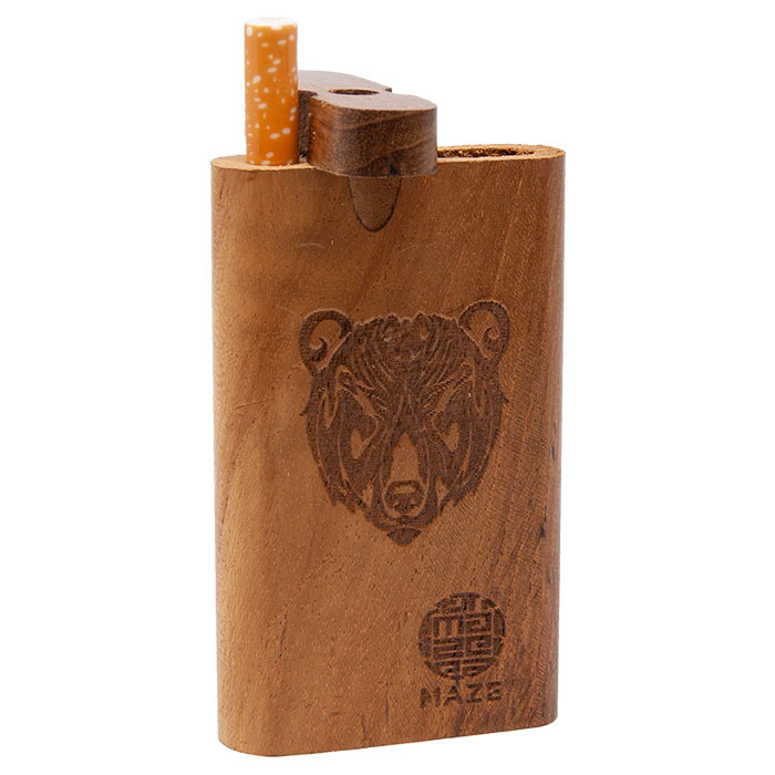 Maze Bear Face Teak Wood Dugout
