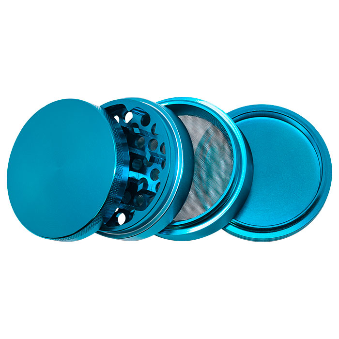 Light Blue Aluminium Grinder 63 Mm