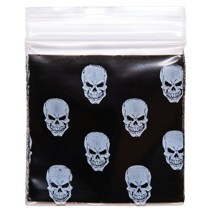 "Baggies White Skull 1.25""X1.25"""