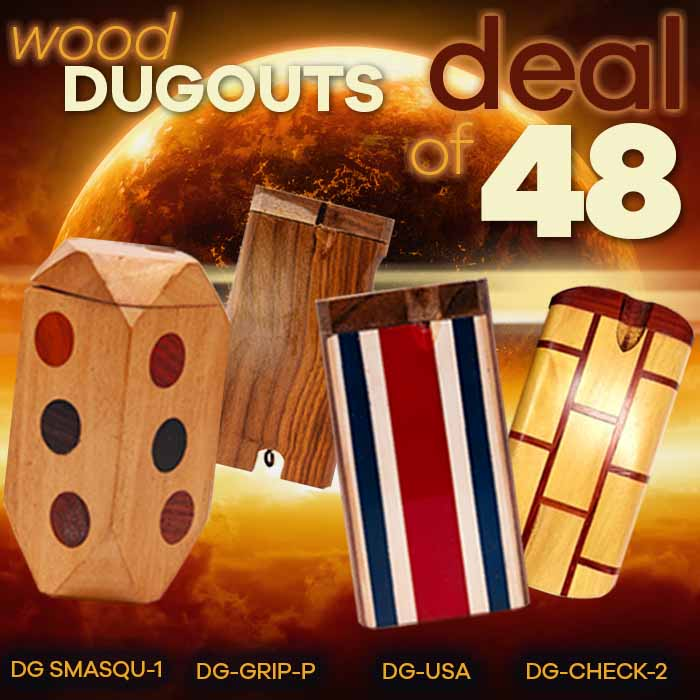 Assorted Wooden Dugout Deal Of 48 Pcs