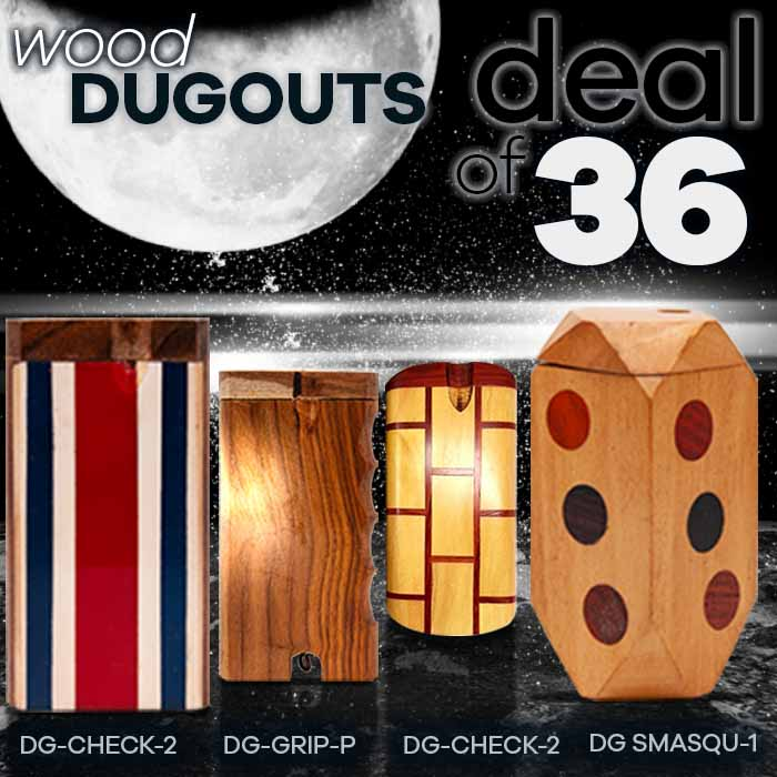 Assorted Wooden Dugout Deal Of 36 Pcs