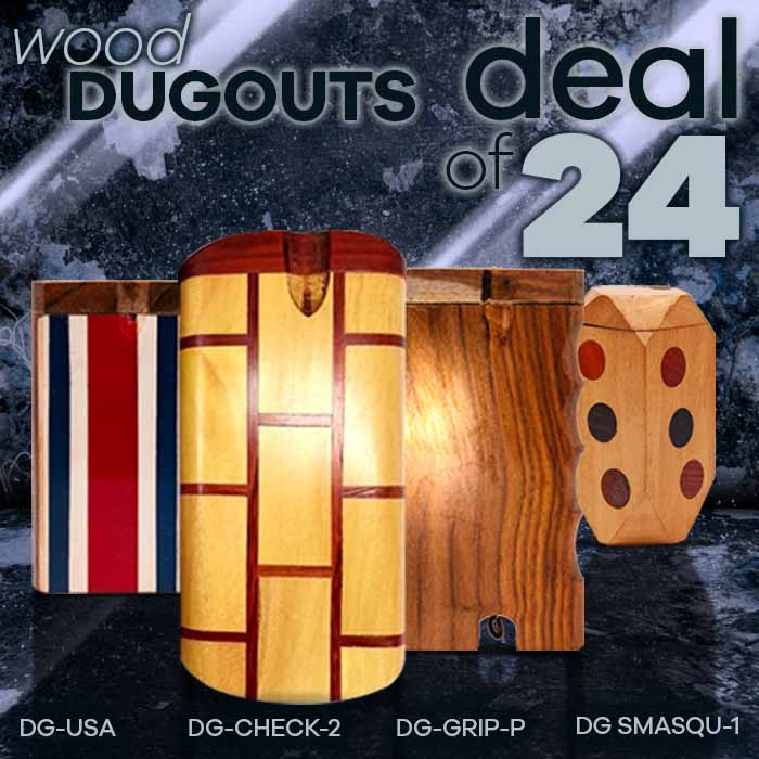 Assorted Wooden Dugout Deal Of 24 Pcs