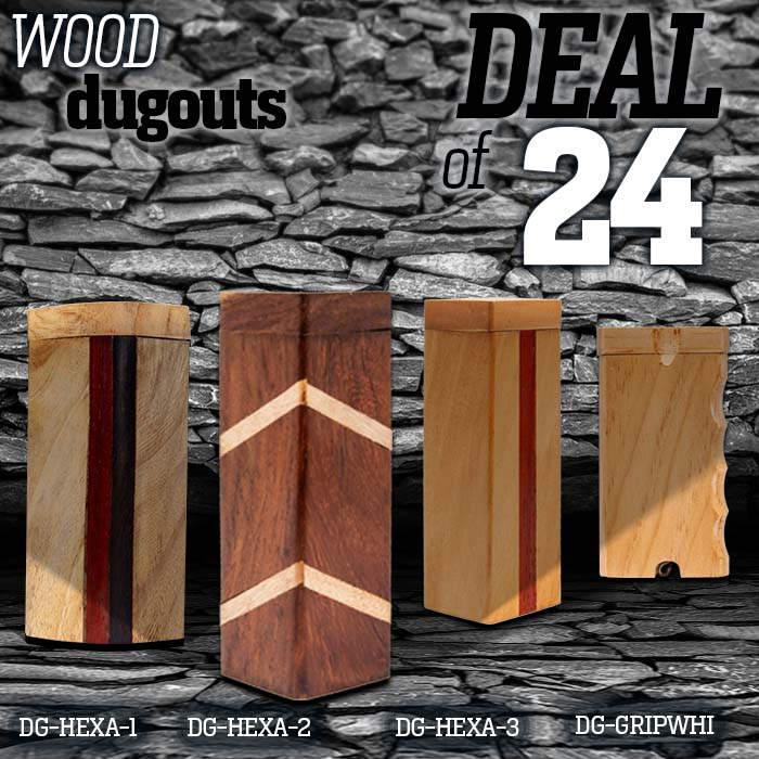 Assorted Wooden Dugouts Deal Of 24 Pcs