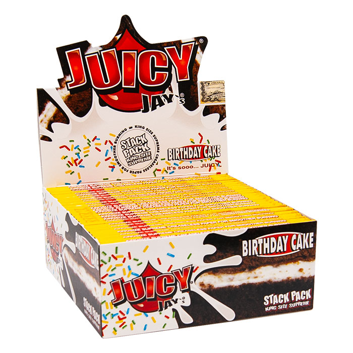 Juicy Jay Rolling Paper Birthday Cake Stack King Size