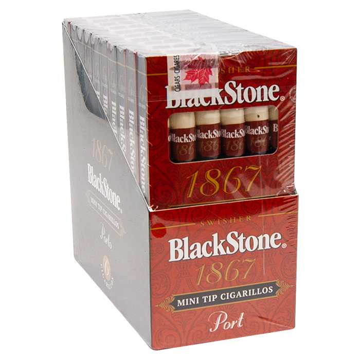Black Stone Cigar 1867 Port Mini Tipped Cigarillos