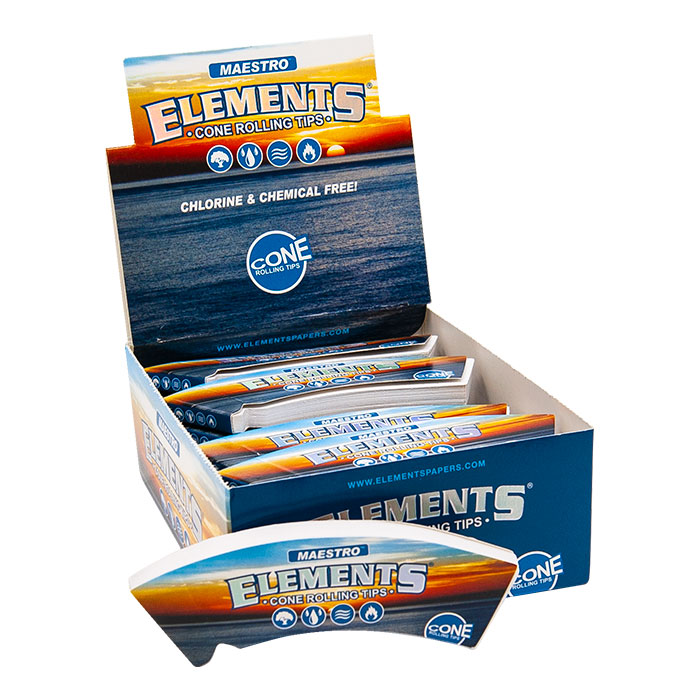 Elements Pre Rolled Maestro King size Conical Tips Box/20