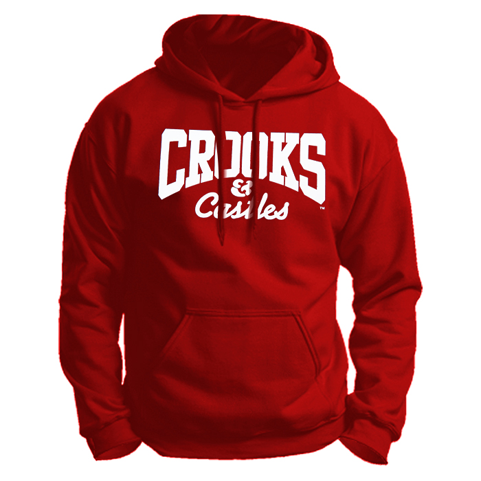 Crooks And Castle Red Color Unisex Hoodie