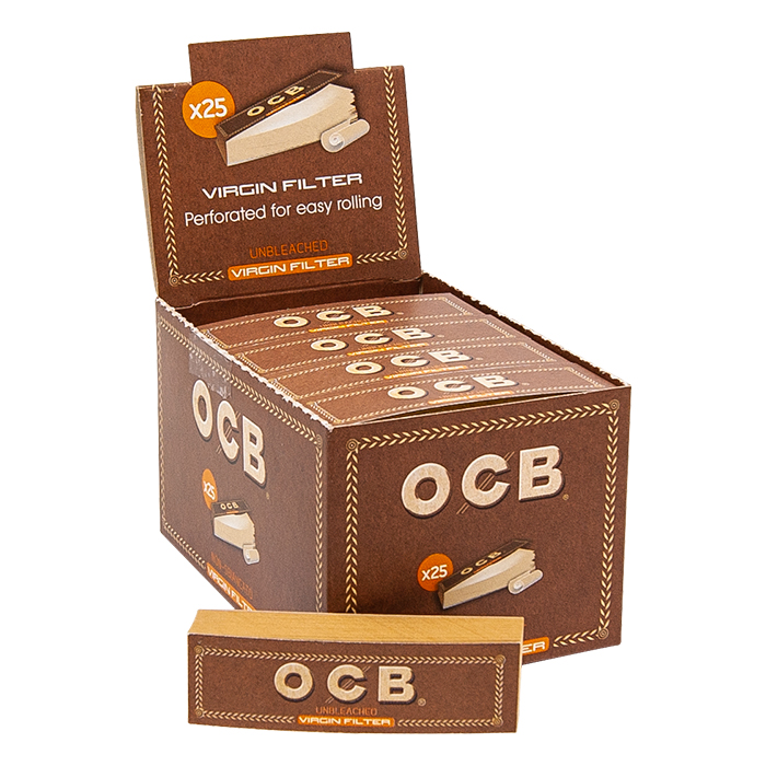 OCB Unbleached Filter- Tips Booklets