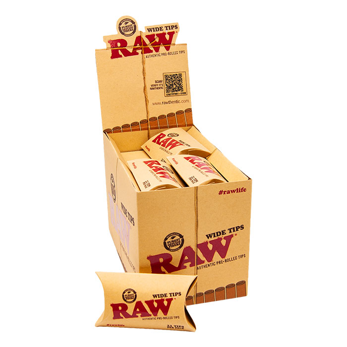 Raw Wide Pre-rolled Unbleached Tips