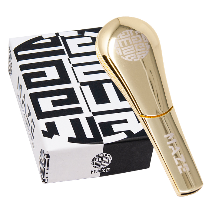 Gold Maze Sleek Magnetic Pipe 4 inches