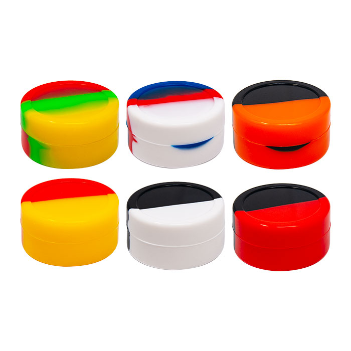 Round Shaped Assorted Color Silicone Container