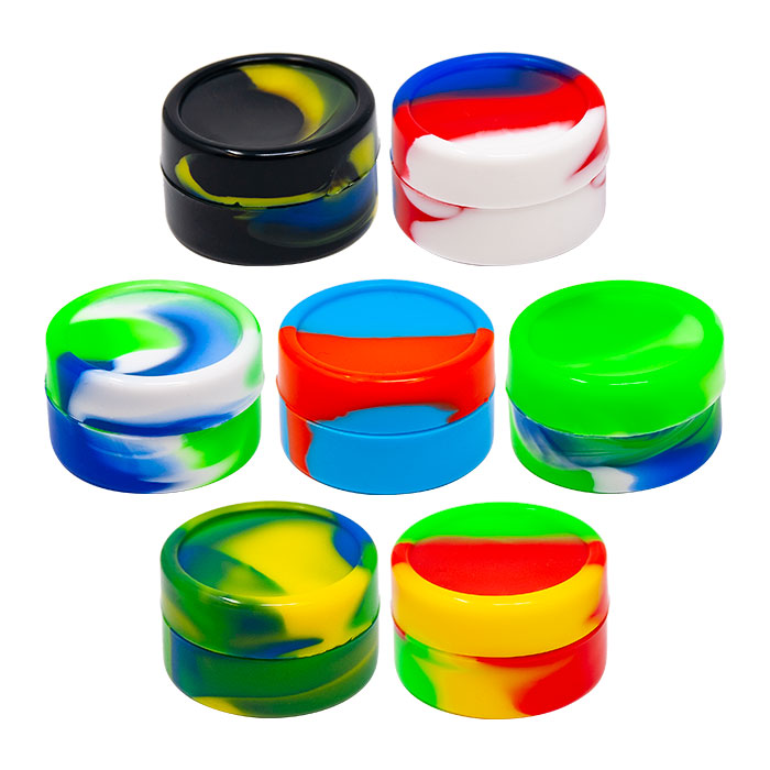 Round Shaped Small Assorted Color Silicone Container