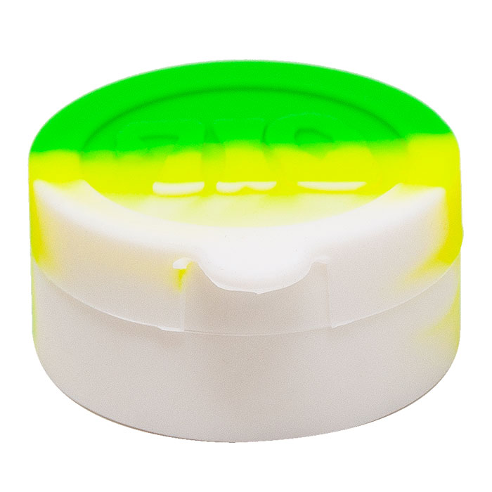 Round Shaped Assorted Color Oil Silicone Container