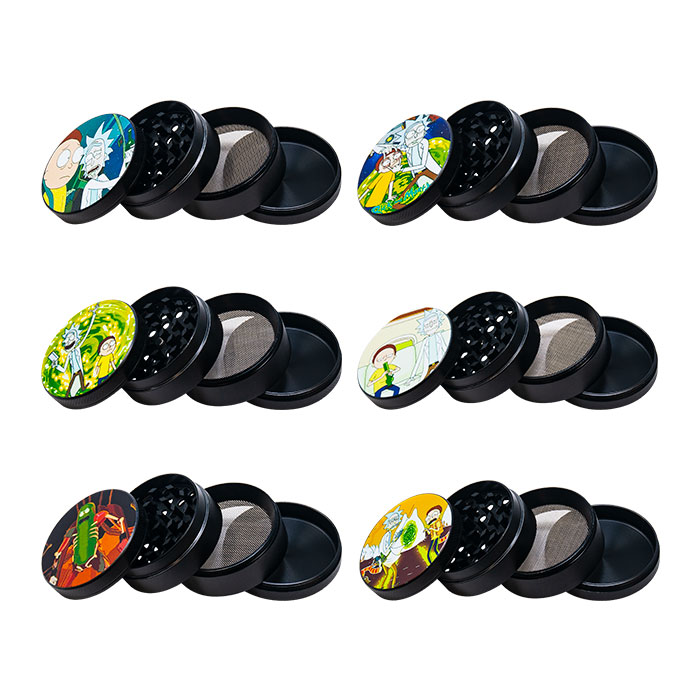 Rick N Morty Yellow 4 Stage Grinder Display Of 12
