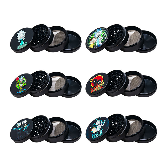 Rick N Morty Don't Panic 4 Stage Grinder Display Of 12