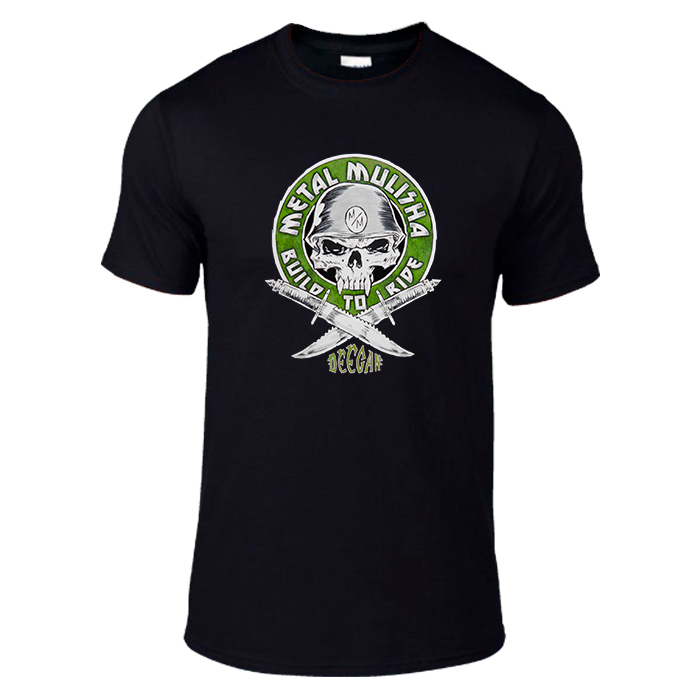 Metal Mulisha Deegan Green Black Cotton T-shirt