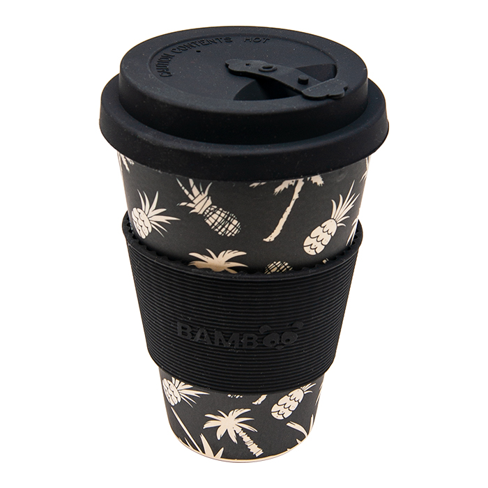 White Palm Trees Bamboo Mug