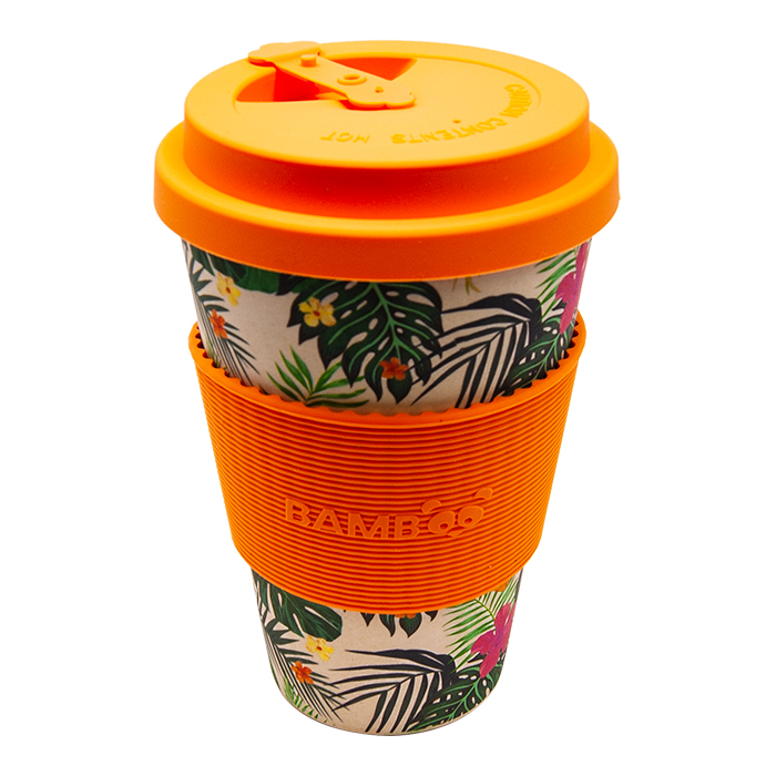 Tropical Flowers Bamboo Mug