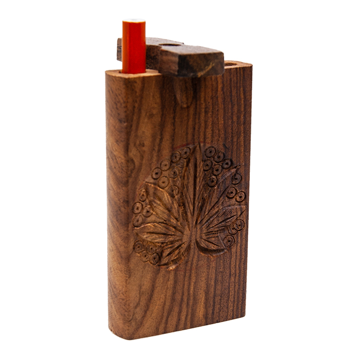 Handcrafted Leaf Wooden Dugout