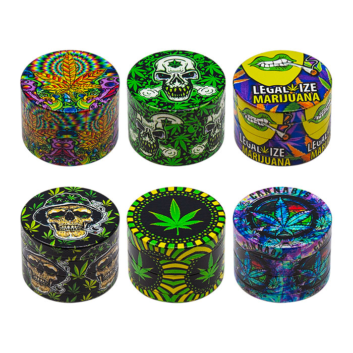 Marijuana 4 Stage Grinder Display Of 12