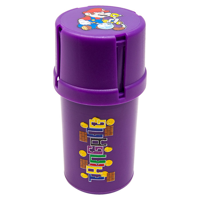 Purple Mario Medtainer Smell Proof Storage And Grinders