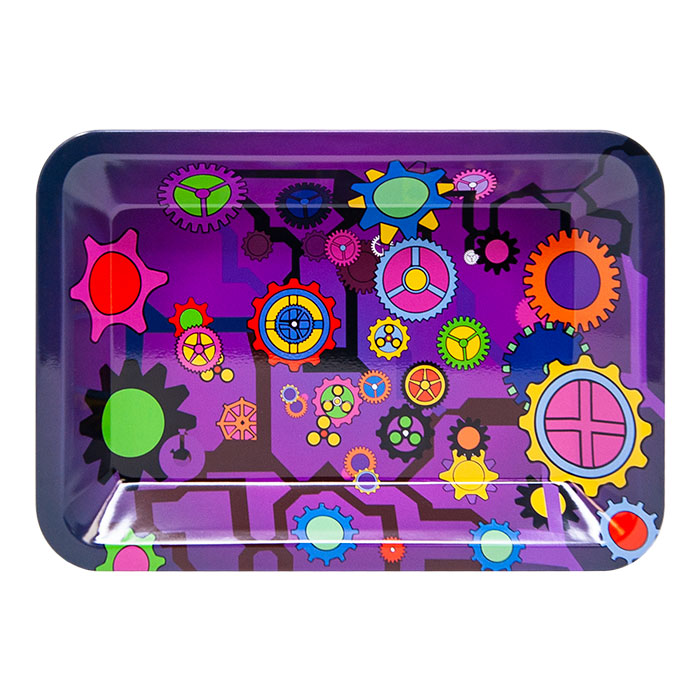 Purple Gear Small Rolling Tray