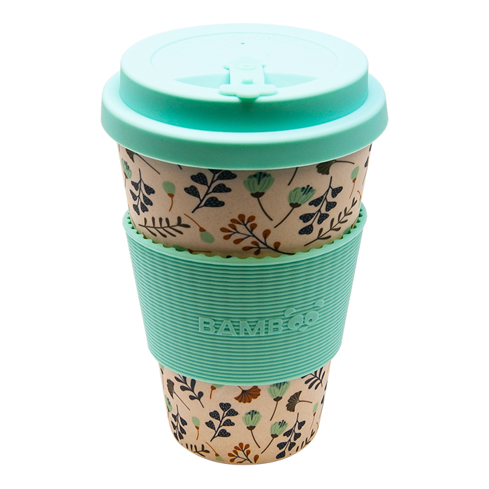 Leaves and Flowers Bamboo Mug