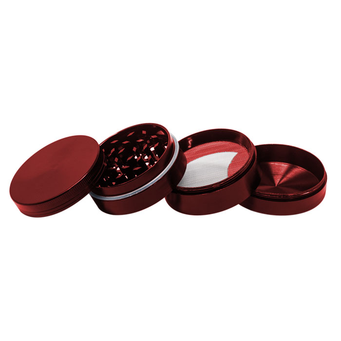 Red Plain Aluminium Grinder 56MM
