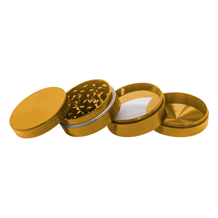 Golden  Plain Aluminium Grinder 56MM
